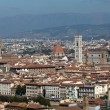 Florence,Tuscany, Italy .  View from the Michelangelo's Piazza — Zdjęcie stockowe