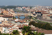Ponte Vecchio, Florence,Tuscany, Italy . View from the Michelangelo's Piazza — Stockfoto