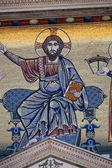 Florence - mosaics on the facade of the church of San Miniato — Stock Photo