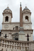 Church of Trinita' dei Monti (Spanish Steps) in Rome, Italy — Stok fotoğraf