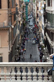 Via Condotti - view of Piazza di Spagna in Rome — Stock Photo