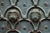 Venecia - puerta de bronce a la catedral de san marcos — Foto de Stock