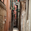 View of ancient buildings and narrow street in Venice — Stock Photo
