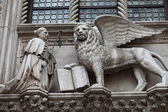 Venice. Winged Lion of St. Mark - symbol of Venice — Stock Photo