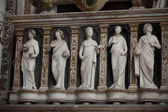Medieval and Renaissance wall tombs in Santi Giovanni e Paolo, Venice, — Photo