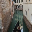 Narrow canal with gondolas in Venice, Italy  — Stock Photo