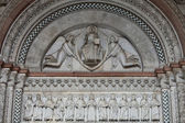 Lucca - detail from St Martin's Cathedral facade, Tuscany — Stockfoto