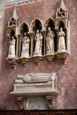 Medieval and Renaissance wall tombs in Santi Giovanni e Paolo, Venice — Stockfoto
