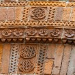 Lucca -  the architectural detail. Magnificently adorned bricks in the historic civic centre — Stock Photo