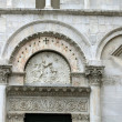 Lucca - detail from St Martin's Cathedral facade. Tuscany — Stock Photo