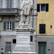 Lucca -the monument of Garibaldi at the Square of Napoleon — Stock Photo