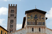 Lucca - San Frediano Church 13th Century Ascension mosaic by Berlinghieri. — Stock Photo