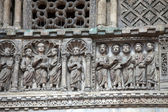 Venice - door from bronze to the cathedral of St Mark — Stock Photo