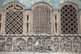 Venice - bas-reliefs on the facade of the basilica of San Marco — Stock Photo