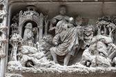 Amboise - Detail of Late Gothic carving on the Chapel of Saint-Hubert where Leonardo Da Vinci is buried — Stock Photo