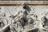 The bas-relief from The Loggetta by Jacopo Sansovino, under the Campanile di San Marco in Venice — Stock Photo