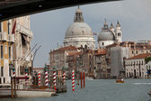 Venice - the view on Canal Grande and Salute before the storm — Stock Photo