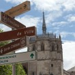 Chapel St. Hubert where Leonardo Da Vinci is buried in Amboise, France. — Stock Photo