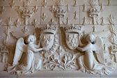 Motivos heráldicos en el castillo de amboise. .valley del río loira. francia — Foto de Stock