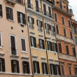 Old roman houses by Spanish steps in Rome — Stock Photo
