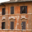 Old roman house by Spanish steps in Rome — Foto de Stock