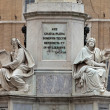 Rome - Biblical Statues at Base of Colonna dell'Imacolata — Photo