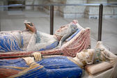 Tomb of Richard the Lionheart and Isabella of Angouleme in Fontevraud Abbey - Loire Valley , France — Stock Photo