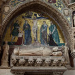 Medieval and Renaissance wall tombs in Santi Giovanni e Paolo, Venice, — Foto de Stock