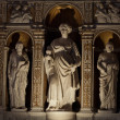 Medieval and Renaissance wall tombs in Santi Giovanni e Paolo, Venice — Stock Photo