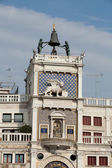 Venice, Torre dell'Orologio - St Mark's clocktower. — Stock Photo