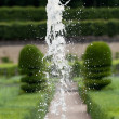 Splendid, decorative gardens at castles in the Valley of Loire — Stock Photo
