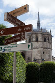 Chapel St. Hubert where Leonardo Da Vinci is buried in Amboise, France. — Stock Photo