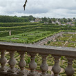 Gardens and Chateau de Villandry  in  Loire Valley in France — Photo