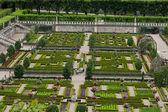 Kitchen garden in Chateau de Villandry. Loire Valley, France — Stock Photo