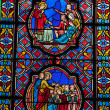 Stained glass windows of Saint Gatien cathedral in Tours, France. — Stock Photo