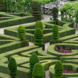 Splendid, decorative gardens at castles in France — Stockfoto