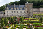 Gardens and Chateau de Villandry in Loire Valley in France — Stockfoto