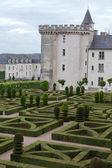Giardini e chateau de villandry nella valle della loira in francia — Foto Stock
