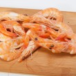 Fresh shrimp  isolated on a white background — Stockfoto