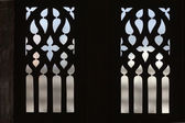 Gothic window - the cathedral of Saint Gatien in Tours, Loire Valley France — Stock Photo