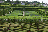 Gardens and Chateau de Villandry in Loire Valley in France — Стоковое фото