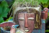 Květináč v podobě ženské hlavy — Stock fotografie