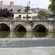 Stock Photo: Old bridge in Azay Le Rideau.Loire Valley, France