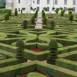 Gardens and Chateau de Villandry  in  Loire Valley in France — ストック写真
