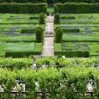 Gardens and Chateau de Villandry  in  Loire Valley in France  — Stock Photo