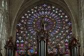 Vidrieras de la catedral de saint gatien en tours, francia. — Foto de Stock