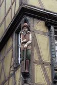 Pół dom noclegowy alzacja, colmar, francja — Zdjęcie stockowe
