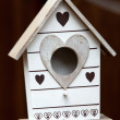 Handmade the wooden house for birds — Stock Photo