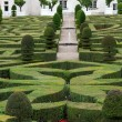 Stock Photo: Splendid, decorative gardens at castles in France