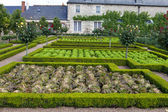 Gardens and Chateau de Villandry in Loire Valley in France — Fotografia Stock